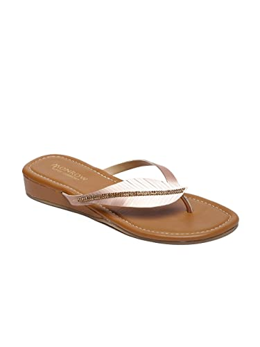 be371ab23 Monrow Danielle Rose Gold Open Flats  Buy Online at Low Prices in India -  Amazon.in