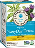 Traditional Medicinals Organic Everyday Detox Lemon Tea, 16 Tea Bags (Pack of 6)