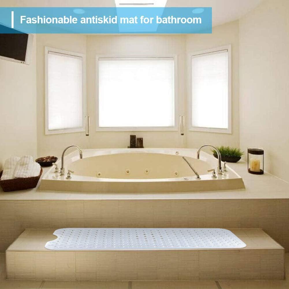HALOViE Bathtub Mat Non-slip Long Bath Shower Tub Mat Super Suction Cups Safety Antibacterial Moistureproof for Bathroom