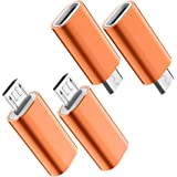 USB C to Micro USB Adapter, (4-Pack) Type C Female to Micro USB Male Convert Connector Support Charge & Data Sync…