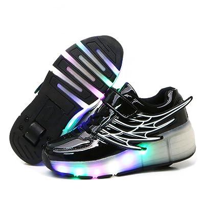 Nsasy Unisex-Boy's Girl's LED Shoes Dance Boot Light Up Sneaker (28 Eur /