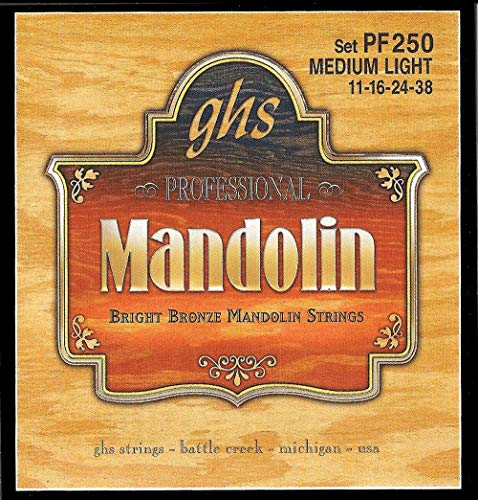 GHS Strings PF250 Bright Bronze Mandolin Strings