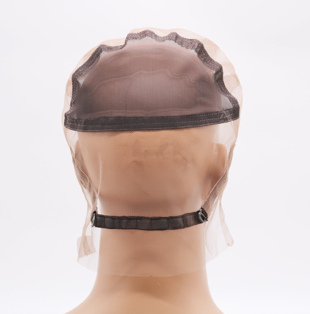 Fantasy Beauty DIY Wig Cap Glueless Full Lace Wig Cap with Ear to Ear Stretch and Adjustable Straps (Full Lace Cap, Medium Color and Size) by Fantasy Beauty (Image #4)