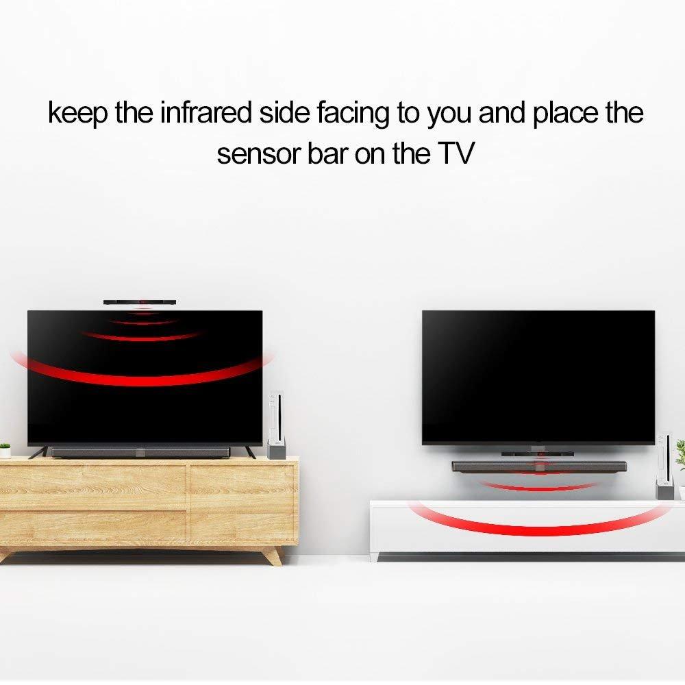 Prous - Barra de Sensor Wii, XW14, Sensor de Movimiento, inalámbrico, Receptor de Señal de Delfín, Barra infrarroja, Accesorios de Juego con Soporte Estable ...