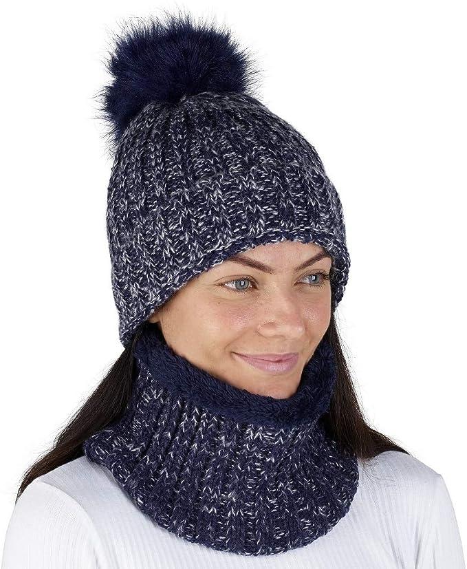 CityComfort Gorras Invierno Mujer Bufanda Invierno Calentador de ...
