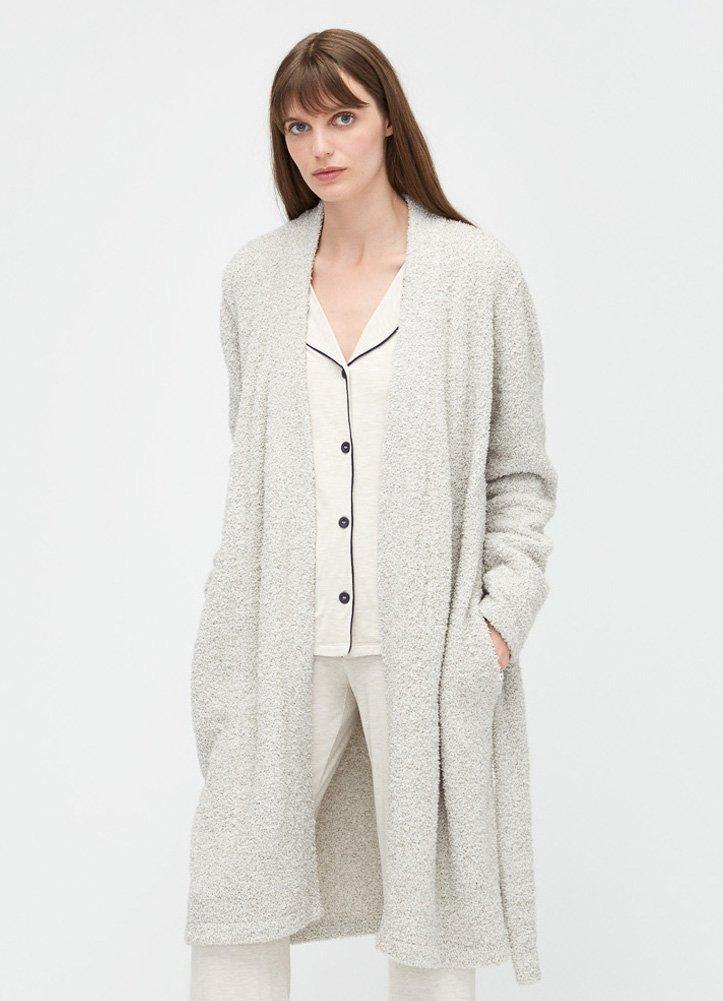 UGG Ana Sweater Plush Knit Robe, M, Driftwood