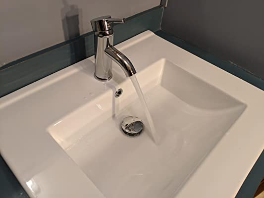 Buy 24 Rectangle Drop In White Bathroom Ceramic Sink Porcelain Top With Overflow Faucet Chrome 1 5 Gpm Pop Up Drain Water Supply Lines Bt A08 Online In Indonesia B078ys27mv