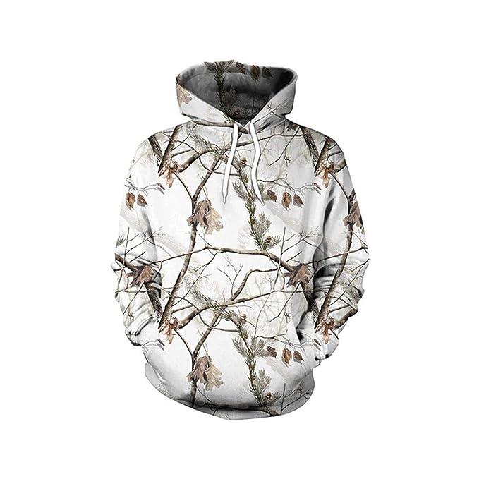 Pullover Casual 3D Digital Hiphop Hombres Sudaderas Old Snow Tree Printed Hoodie Unisex Streetwear Sweetshirt B101-168 XXL: Amazon.es: Ropa y accesorios