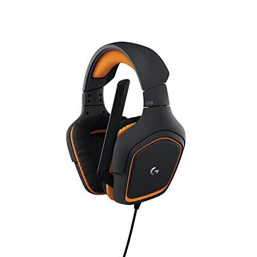 Logitech G231 Gaming Headset for Xbox One, PS4, Swtich and PC (Stereo with Mic) - Black/Orange