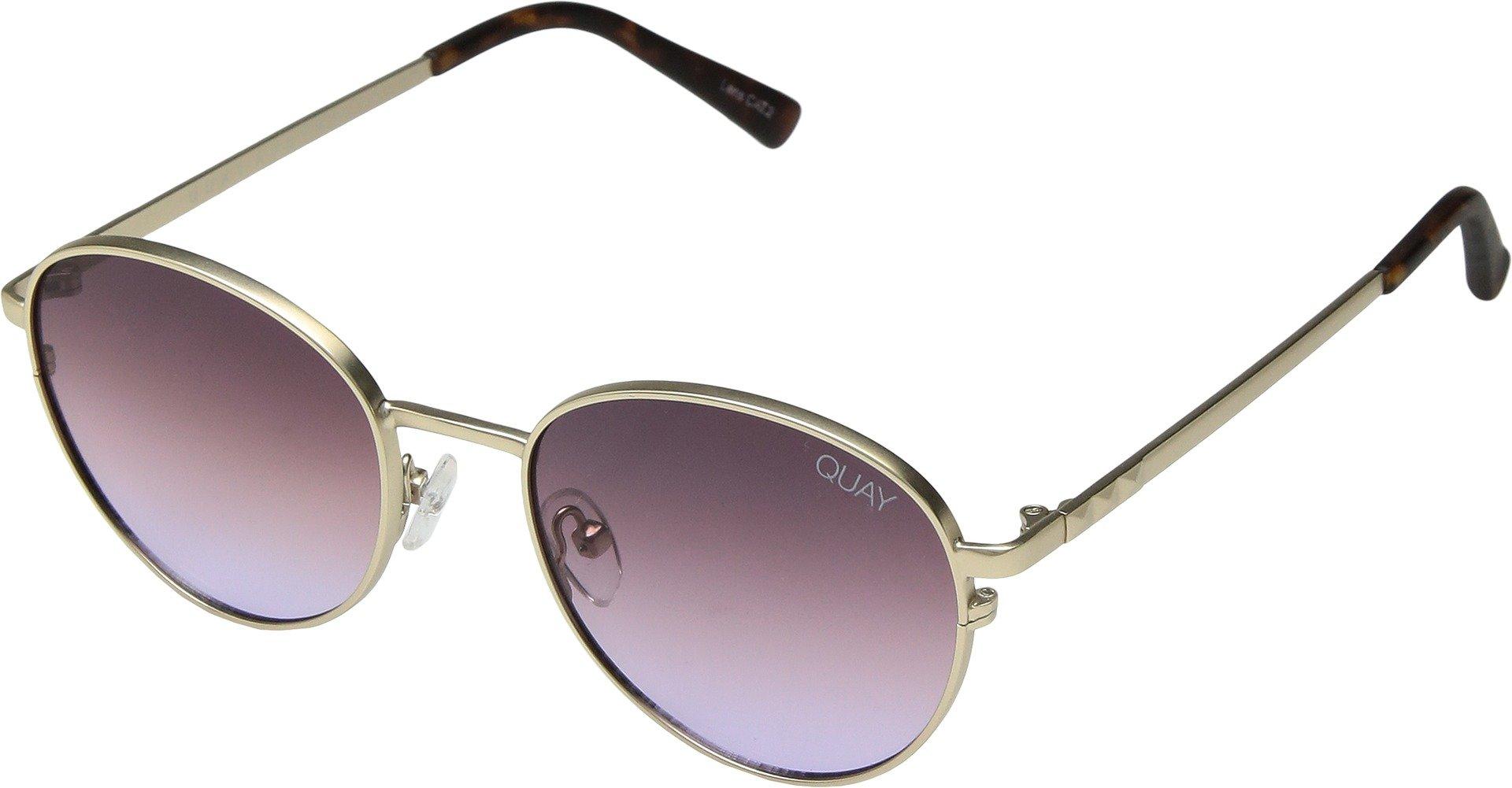 Quay Women's Crazy Love Sunglasses, Gold/Purple, One Size
