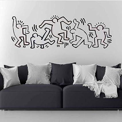Copripiumino Keith Haring.Adesivo Murale Keith Haring Nursery Anime Poster Nurserry Camera
