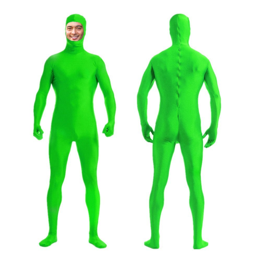 DreamHigh DH Mens Womens Lycra Spandex Full Body Costume Zentai Suit-Open Face