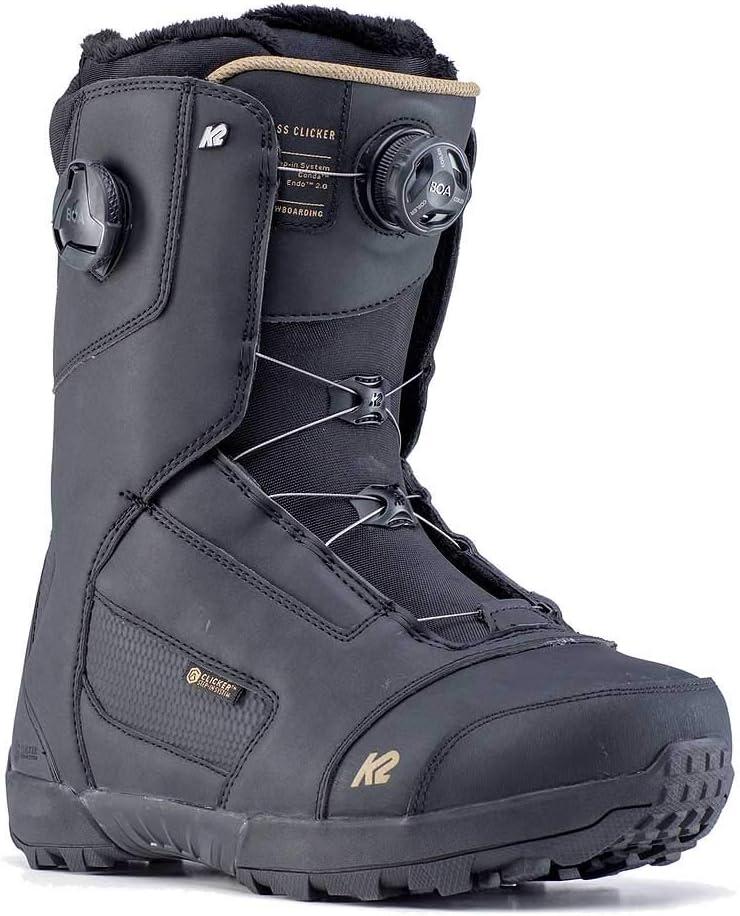 Noir K2 Boots De Snowboard Compass Clicker Black Mixte