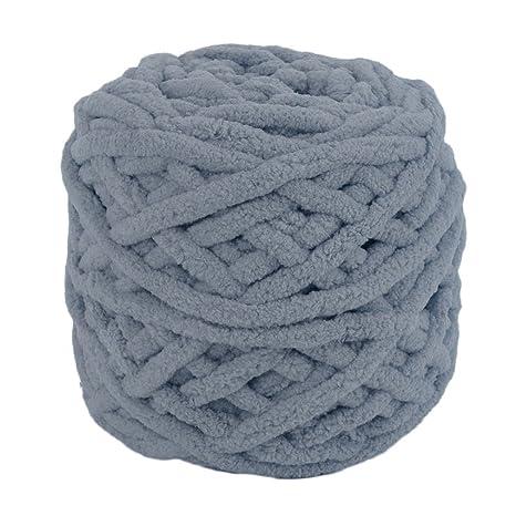 Color gris oscuro DIY bufanda suéter toalla gruesa de lana de tejer 95 g 7 mm