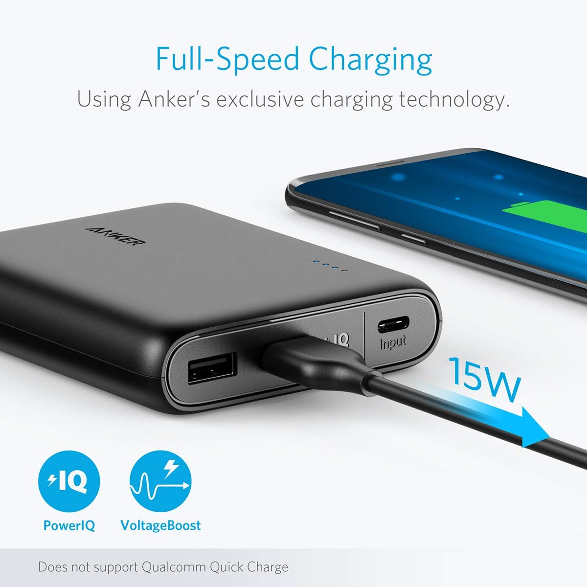 974e1b36b54 Amazon.com: Anker PowerCore 13000 C (USB-C Input only), Compact 13000mAh  2-Port Ultra Portable Phone Charger, Power Bank with PowerIQ and  VoltageBoost ...