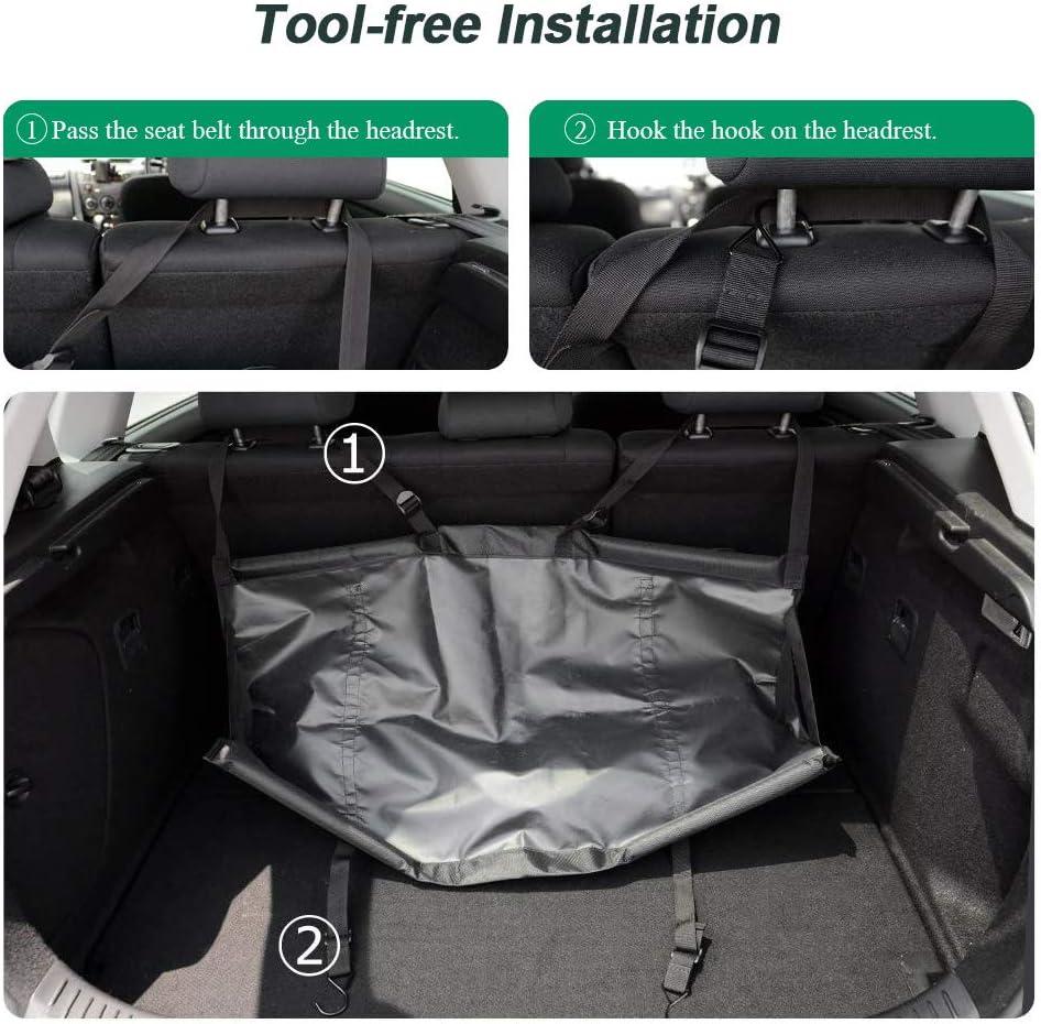 Amo Car Trunk Organizer,Super Capacity Car Hanging Organize,Space Saving Expert Black