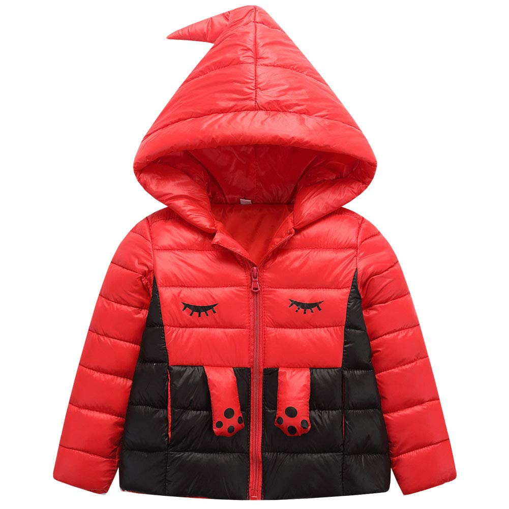 M&A Little Girls Cute Down Jacket Winter Hooded Puffer Coat
