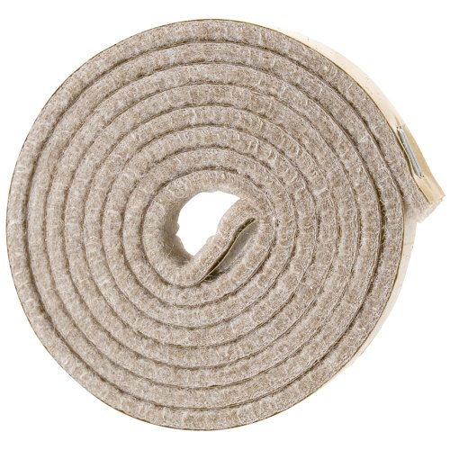 SoftTouch Self-Stick Heavy Duty Felt Strip Roll for Hard Surfaces (1/2