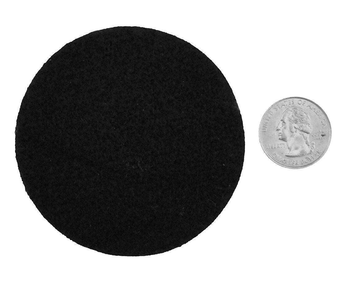 Playfully Ever After 3 Inch Black 30pc Felt Circle Stickers