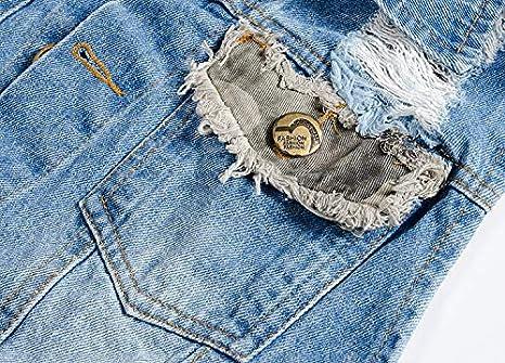 DOHAOOE Men/'s Camo Ripped Denim Vest Retro Stitching Outdoor Sleeveless Jacket