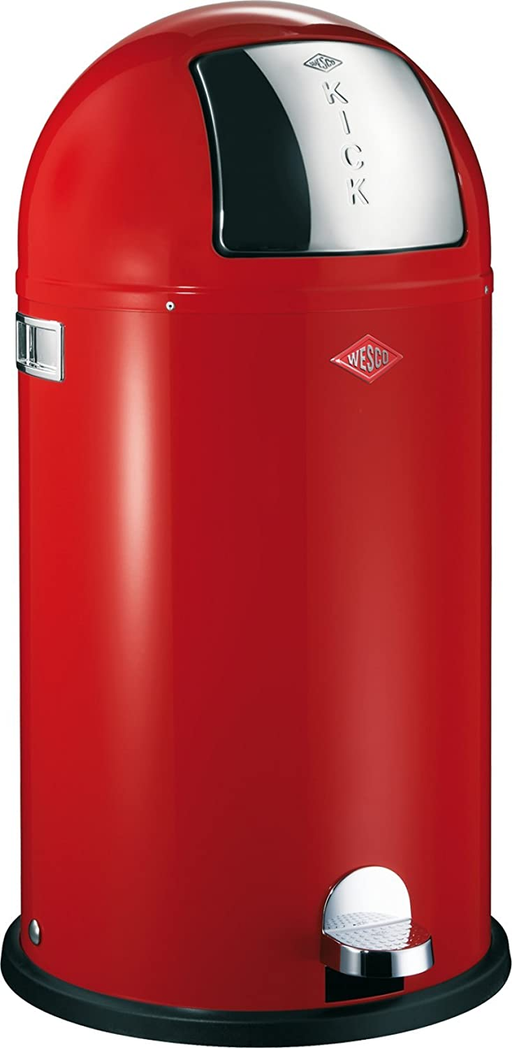 Wesco Kickboy Powder Coated Steel Waste Bin, 40 Litre, Almond Imperial 177-731-23 0010-17773123