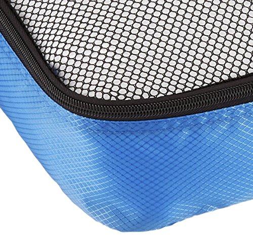 61SMveE%2B9zL Amazon Basics Kleine Kleidertaschen, 4 Stück, Blau