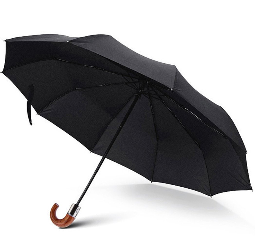 Lonior Paraguas Plegable Apertura y Cierre Automático Paraguas de Viaje para Hombre y Mujere Paraguas Grande Resistente al Viento en Fibra Negro: Amazon.es: ...