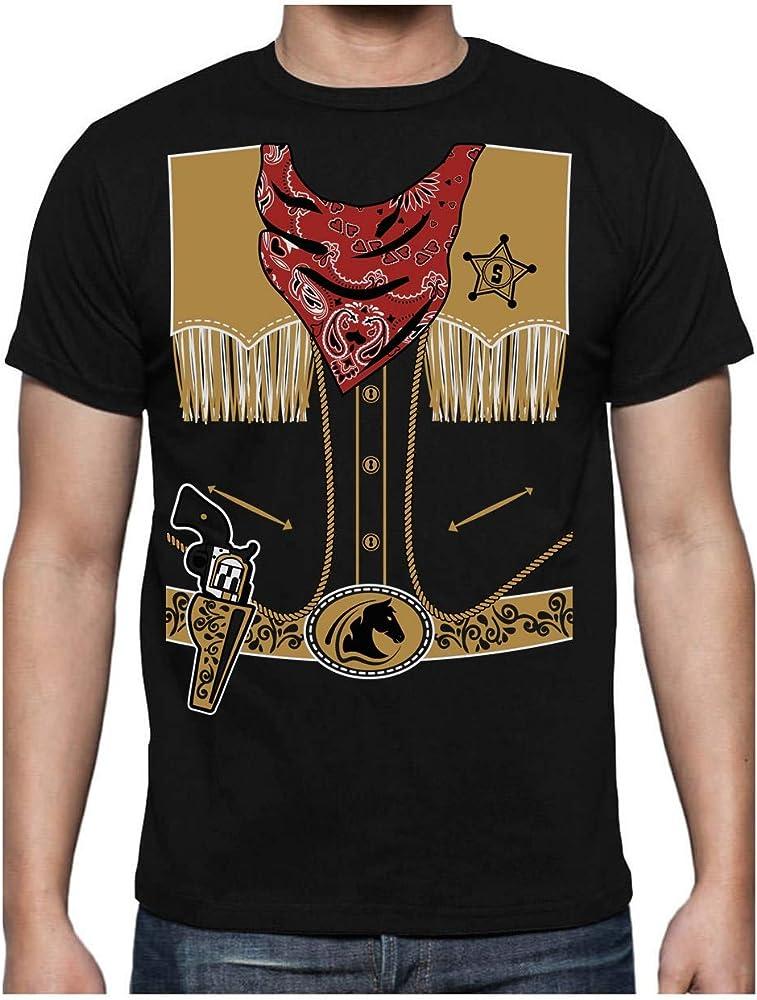 Green Turtle T-Shirts Camiseta para Hombre - Sencillo Disfraz de Vaquero para Halloween Small Negro: Amazon.es: Ropa y accesorios
