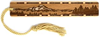 product image for Personalized Mountain Wilderness Scene, Engraved Wooden Bookmark with Tassel