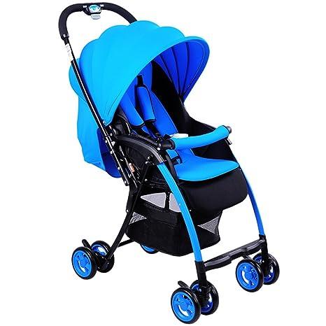C-K-P Carro de bebé, carro plegable súper ligero, bicicleta (Color : Blu)