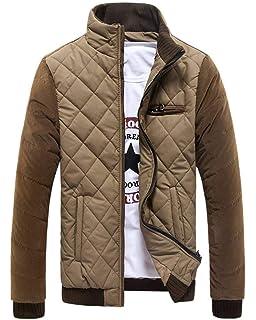 Steppjacke Herren Winterjacke Wärmen Longsleeve Jacke Slim Zipper Jungen  Casual Fashion Übergangsjacke Mantel 86a5915fbc