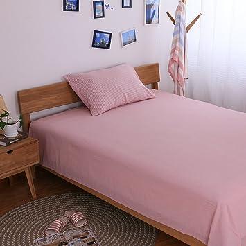 muji Lavado sábanas/ cama de algodón de una sola pieza Mikasa/Color sólido dos sábanas de algodón-C 200x230cm(79x91inch): Amazon.es: Hogar