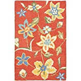 Safavieh Blossom Collection BLM673A Handmade Rust and Multi Premium Wool Area Rug (2'6″ x 4′) For Sale