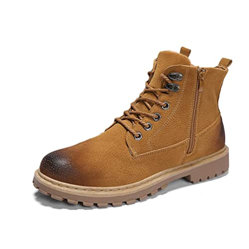 Moda de Invierno para Hombre Botines de Cuero Caliente Hombres Botas de Nieve Impermeables Ocio Martin Botas de otoño Zapatos para Hombre: Amazon.es: ...