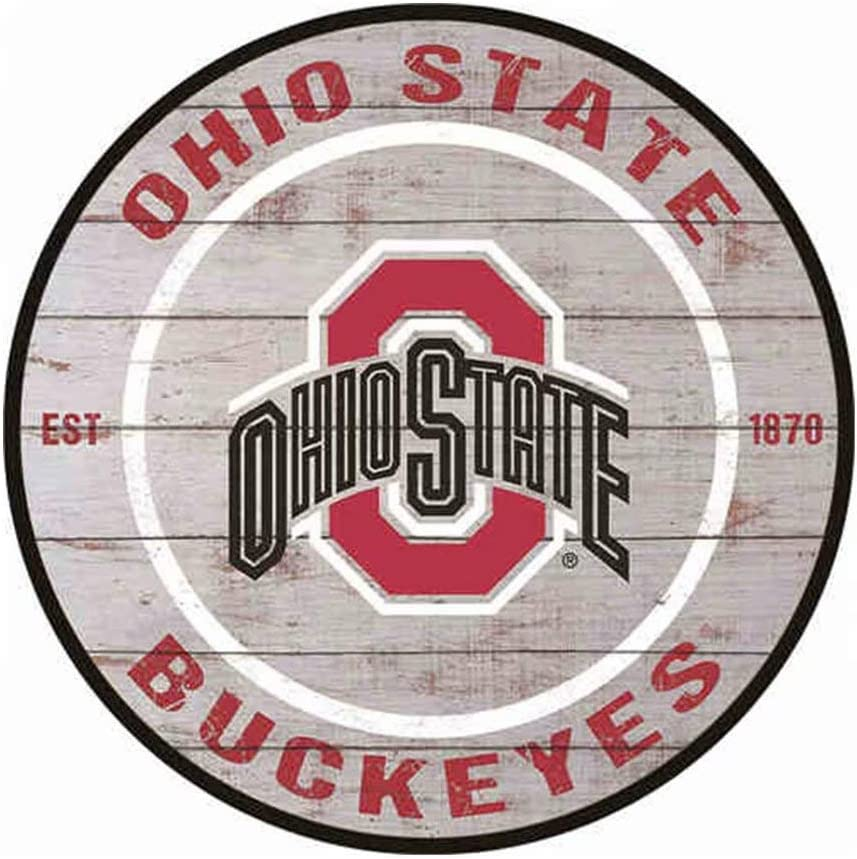 Funny Bar Signs Man Cave Signs and Decor - Ohio State Buckeyes Tin Signs 12X12 Inches