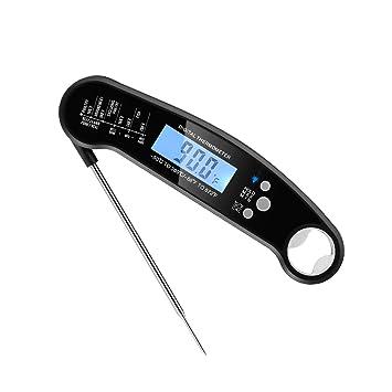 Termómetro digital para alimentos, resistente al agua IP67 termómetro de lectura instantánea termómetro electrónico para