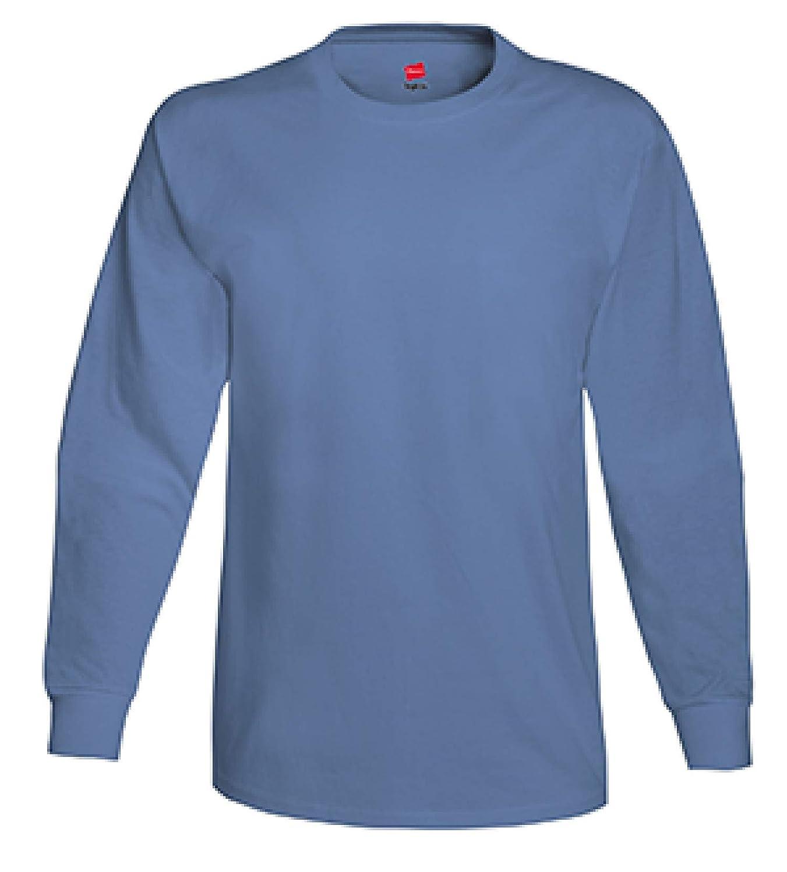 Bleu Jean M Hanes - T-Shirt à hommeches longues -  Homme
