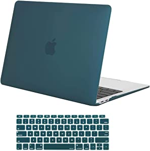 MOSISO MacBook Air 13 inch Case 2020 2019 2018 Release A2179 A1932 with Retina Display, Plastic Hard Shell Case & Keyboard Cover Only Compatible with MacBook Air 13 with Touch ID, Deep Teal