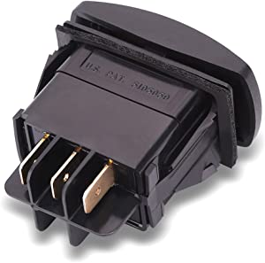 World 9.99 Mall 435-640 Forward/Reverse Switch, Replaces Club Car: 101856001, 101856002, Fits Club Car: DS and Precedent PowerDrive Plus, Electric, 1996 and Newer, 48V