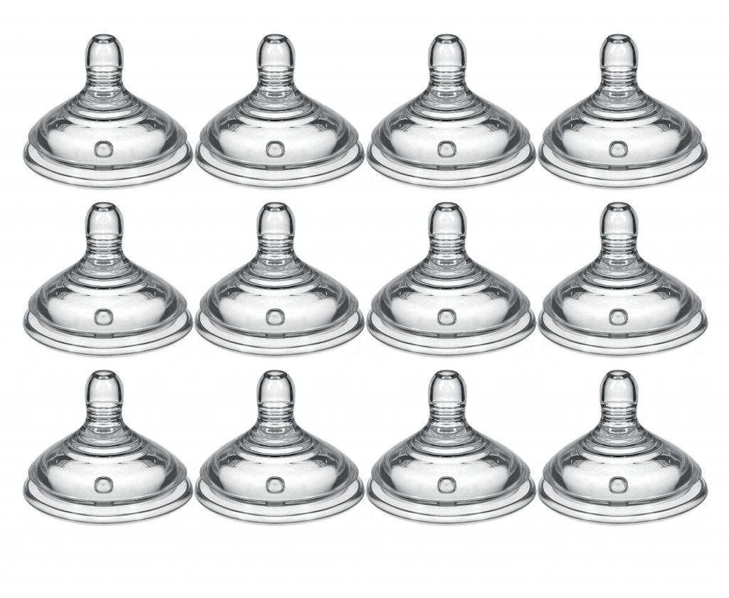 Tommee Tippee Closer to Nature Slow Flow Nipples - 12 Pack