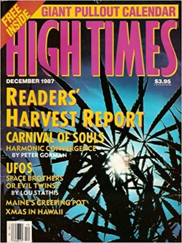 High Times Magazine December 1987 Issue Steven Hager Amazon