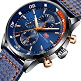 MF Mini Focus Mens Analog Watch Chronograph Waterproof Business Quartz Wrist Watches for Mens Gift