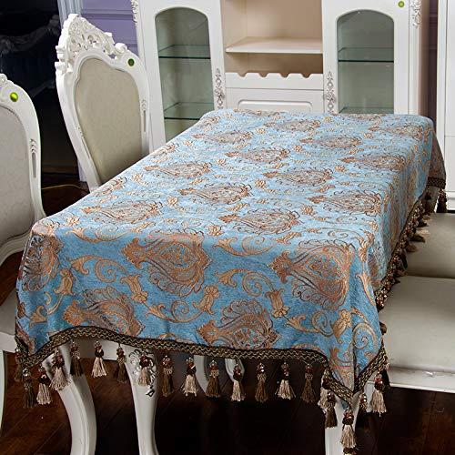 Mountain head 厚手のドレープ、防塵、布、長方形のテーブルクロス、テーブルクロス、布、刺繍、ヨーロッパ風の国 Mountain head (Color : Blue, Size : (150*200cm)) (150*200cm) Blue B07QNGF3VW
