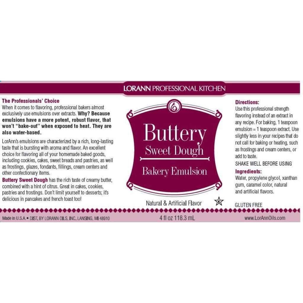 LorAnn Oils Buttery Sweet Dough Bakery Emulsion - 16 oz by LorAnn (Image #2)