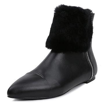 Botas de tacón alto para mujer Botas de otoño de invierno Botas de trabajo Botas de