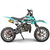 SYX MOTO Kids Dirt Bike Holeshot 50cc Gas Power Mini Dirt Bike 23inches Seat Height Dirt Off Road Motorcycle, Pit Bike Fully