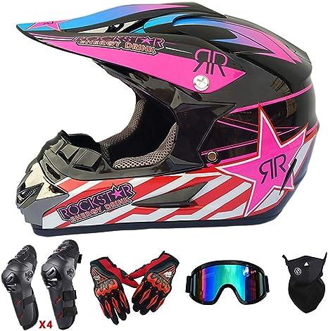QYTK® Adulto Casco de Motocross, ET-70 Off-Road Cascos de ...