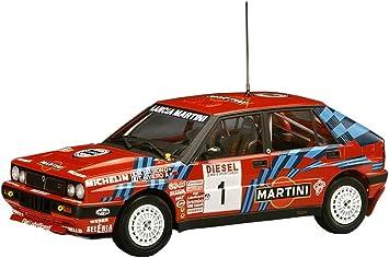 hasegawa hmcr08 lancia delta hf integrale 16 v 1989 san remo rally model  kit 1: 24 scale official licensed model ff + r-t-r: amazon.de: spielzeug  amazon.de