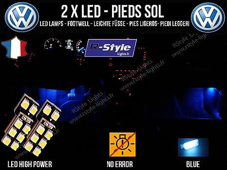 Bombillas 8 LED azul – Iluminación de pies – Volkswagen Golf 7