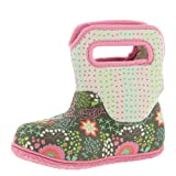 BOGS Baby Snow Boot, New Flower dot Gray Multi, 8